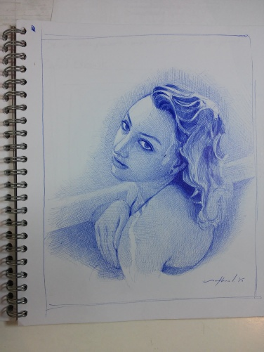"""Samara"" Ballpoint Pen Artwork / Sketch"
