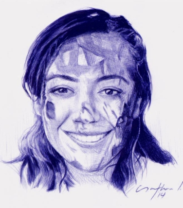"""Ana Paola"" Ballpoint Pen Artwork / Sketch"