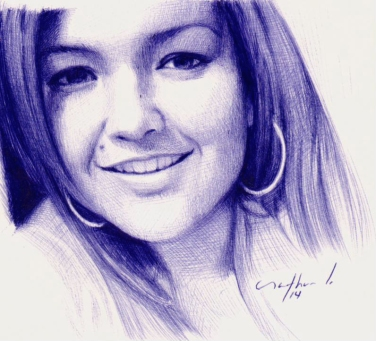 """Bárbara"" Ballpoint Pen Artwork / Sketch"