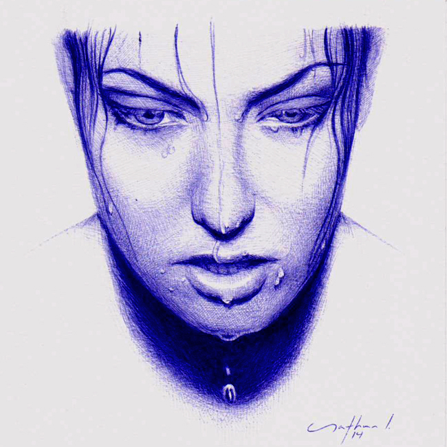 """Causeless"" - Ballpoint Pen Sketch"