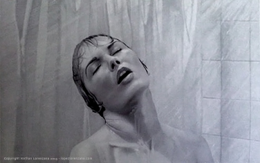 """Psycho Shower Scene"" - Ballpoint Pen Artwork on Illustration Board"